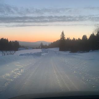 Straße am Abspann Berg