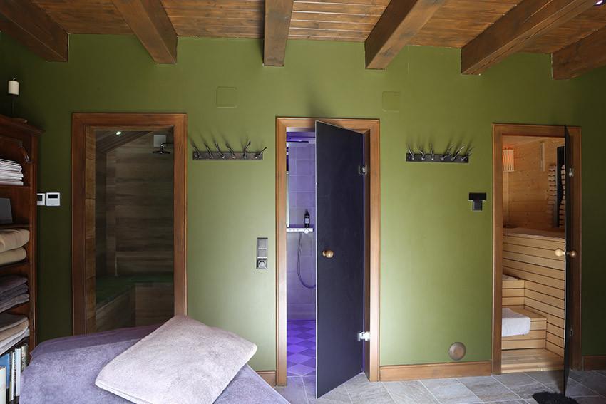 Eingang Dampfbad und Sauna
