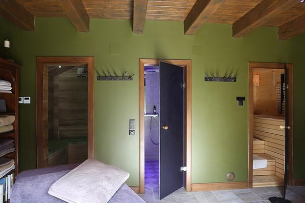 Eingang Dampfbad / Dusche / Sauna