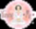 YummyMeChocs.com Logo Angelica meditation pose. Yumme Chocolates and Meditation Workshops