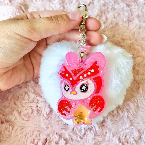 Fluffy heart Celeste keychain