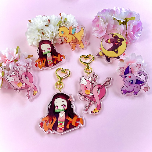 Acrylic keychains and pins