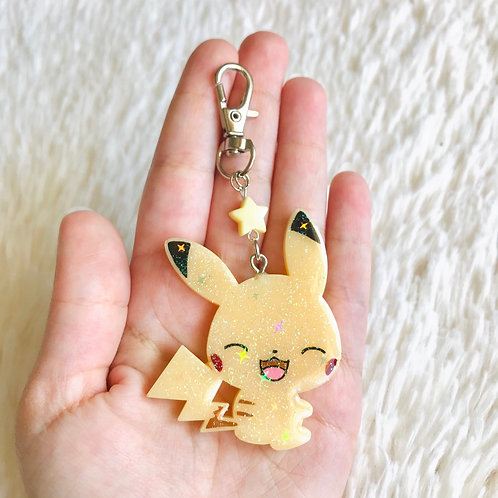 Pre order laughing Pikachu Keychain