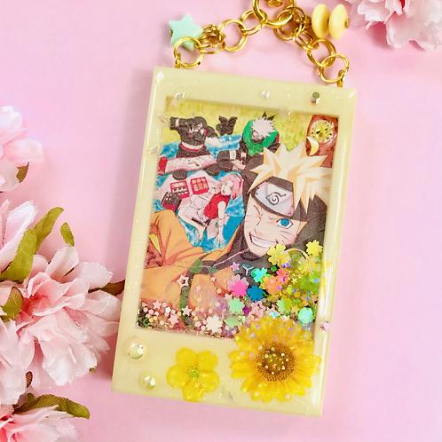Naruto Polaroid liquid shaker keychain