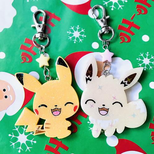 Shiny Pikachu and Eevee