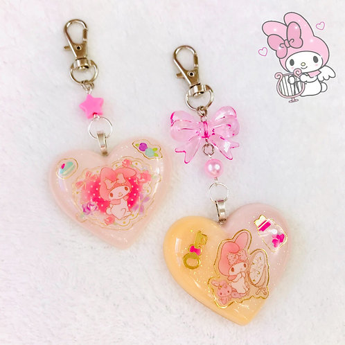 My Melody resin charms
