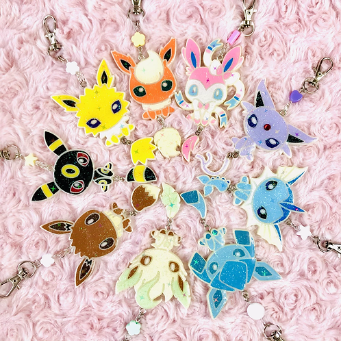 Eeveelutions Full body painted keychains