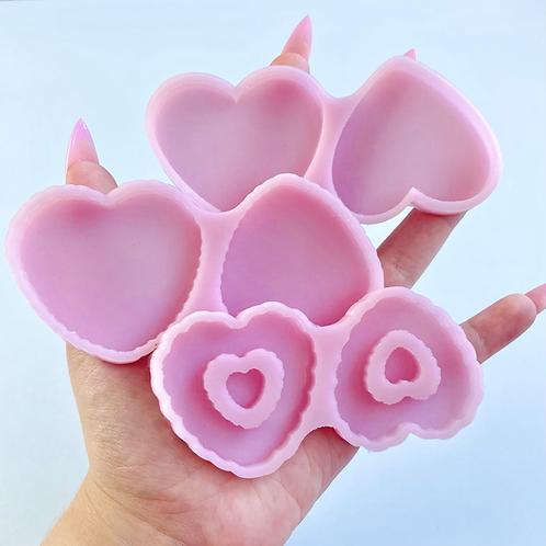 Double heart molds