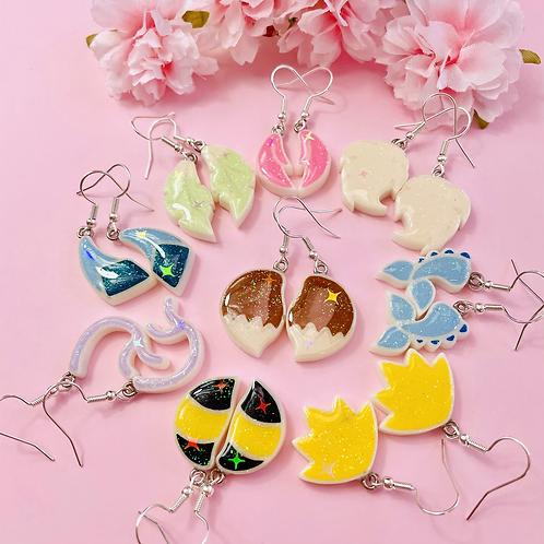 Eeveelutions' tails earrings