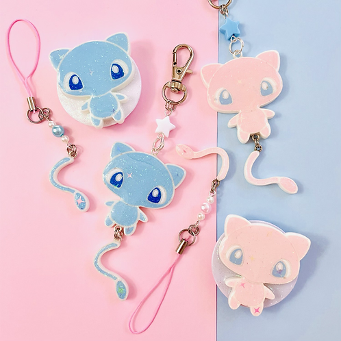 Mew keychain/phone grip