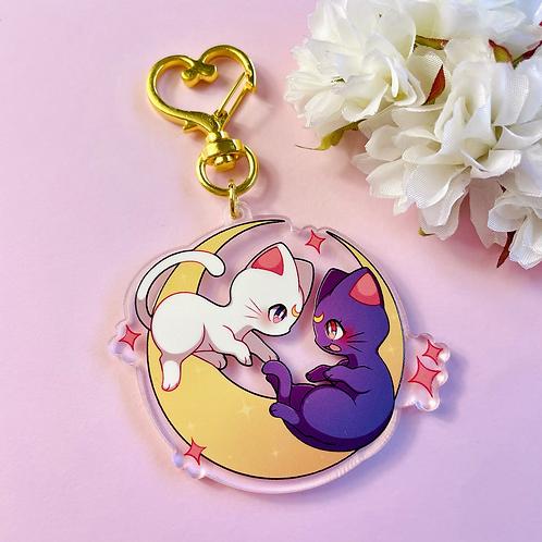 Luna & Artemis acrylic keychain
