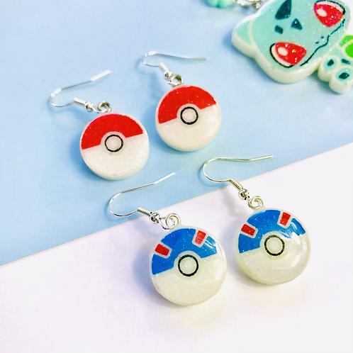 Poke balls earrings