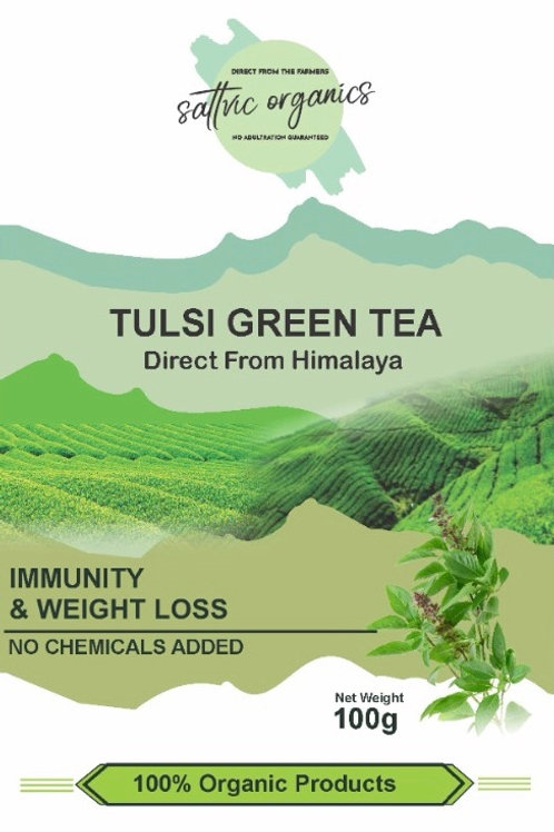 Sattvic Organics Tulsi Green Tea