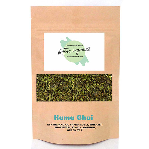 Sattvic Organics Kama Chai - 100 G Stamina and Energy Booster