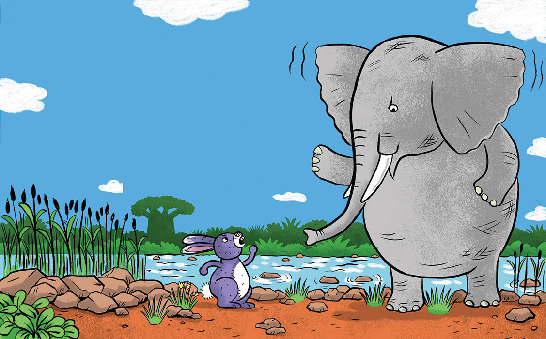 Elephant and Hippo