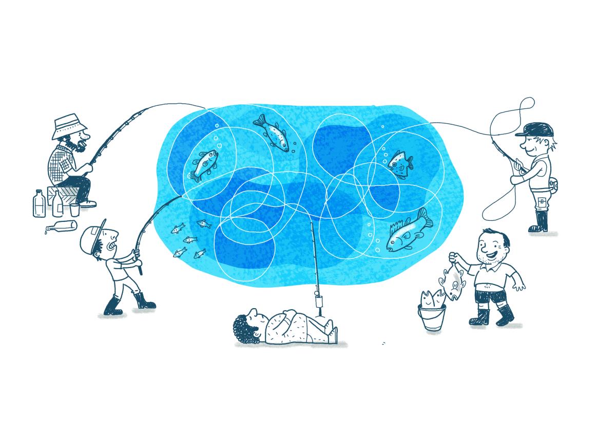 Illustration fishing