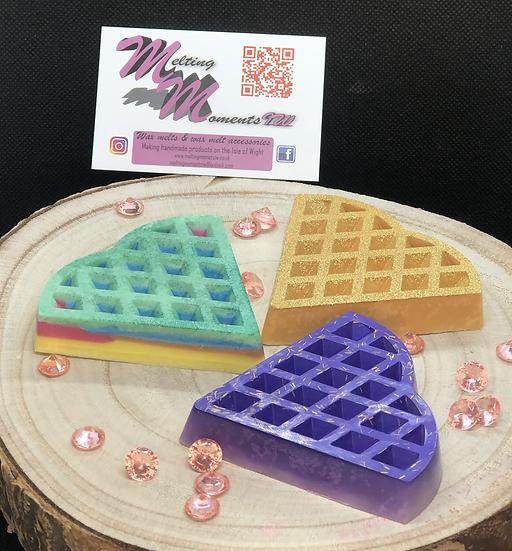 Heart waffle wax melts - 3 piece deal!