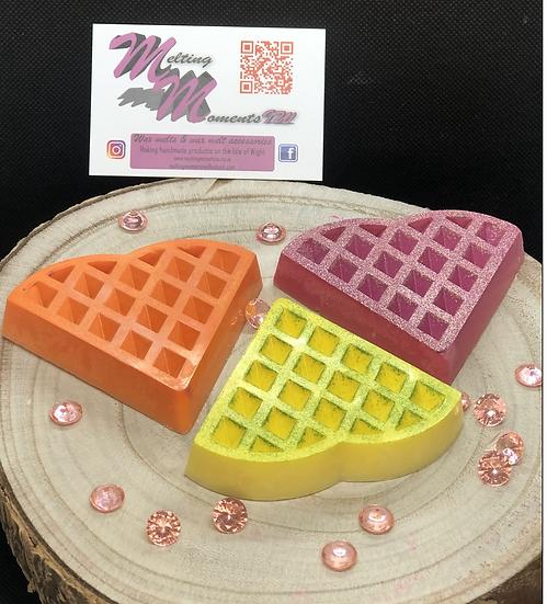 Heart waffle wax melt