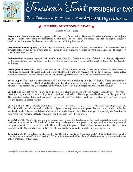 PDF - Presidents Day Ceremony Glossary 2