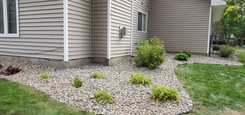 1.5 River Rock With Dig Free Edging and New Weed barrier