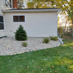 2-4 inch River Rock With Weed Barrier