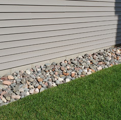 2-4 Inch River Rock Border With Dig Free Edging and Weed Barrier