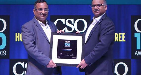 Dharmendra Kumar, CISO of Tata Power Delhi Distribution receives the CSO100 Award for 2019
