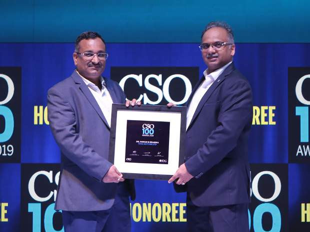 Dharmendra Kumar, CISO of Tata Power Delhi Distribution receives the CSO100 Award for 2019
