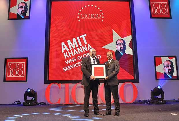 The Transformative 100: Amit Khanna, Business Technology Head at WNS Global Services receives the CIO100 Award for 2016