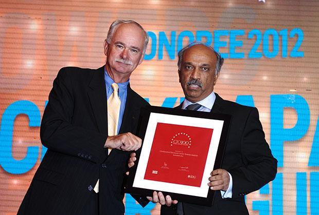 The Resilient 100: Chakrapani Perangur, CIO of Indus Towers receives the CIO100 Award for 2012