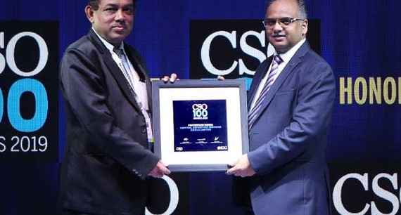 Prithwijit Dinda, VP – IT at CDSL, receives the CSO100 Award for 2019