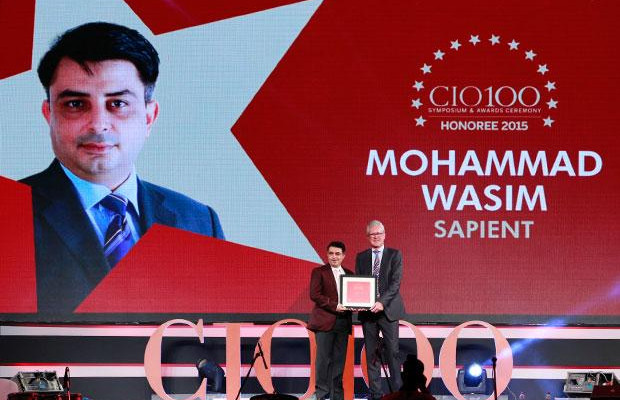 The Versatile 100: Mohammad Wasim, Director & Global Infrastructure Lead, Sapient Corporation of company receives the CIO100 Award for 2015