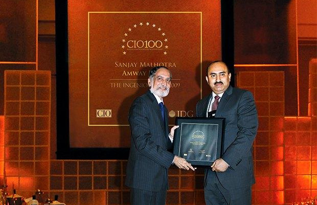 The Ingenious 100: Sanjay Malhotra, VP-IT, BS and Ebiz of Amway India Enterprises receives the CIO100 Award for 2009