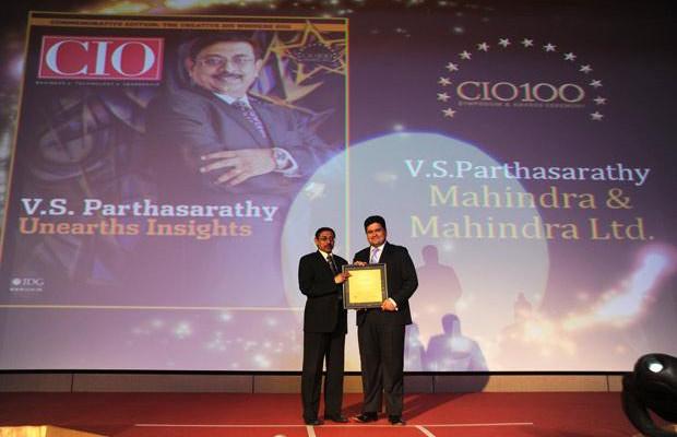 The Creative 100: V S Parthasarathy, CIO of Mahindra & Mahindra receives the CIO100 Award for 2011