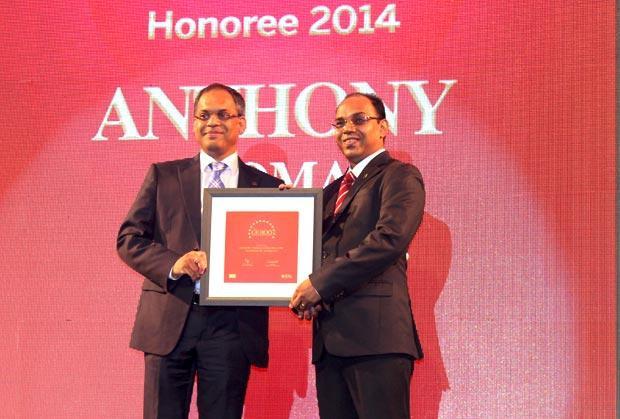 The Dynamic 100: Anthony Thomas, CIO, Vodafone India receives the CIO100 Award for 2014