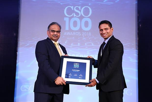 Allwyn Joseph Pereira, Director – IT Security of Sutherland receives the CSO100 Award for 2018