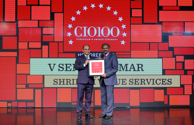 The Digital Architect: V Sendil Kumar, VP– IT, Shriram Value Services, receives the CIO100 award for 2018