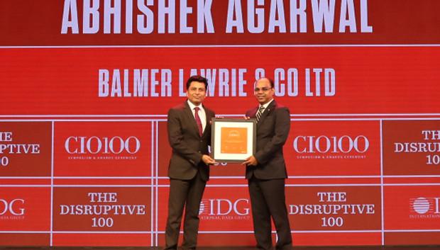 The Disruptive 100: Abhishek Agarwal, SVP & CIO, Balmer Lawrie & Co receives the CIO100 Award for 2019