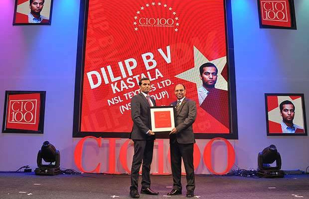 The Transformative 100: Dilip B V Kastala, Group IT Head of NSL Textiles receives the CIO100 Award for 2016