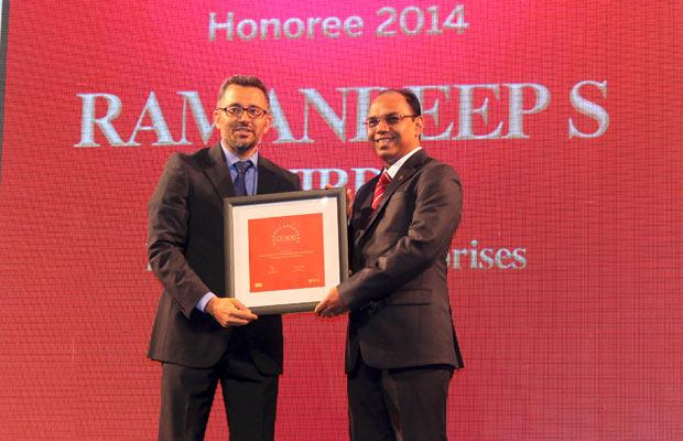 The Dynamic 100: Ramandeep Singh Virdi, VP IT, Interglobe Enterprises receives the CIO100 Award for 2014