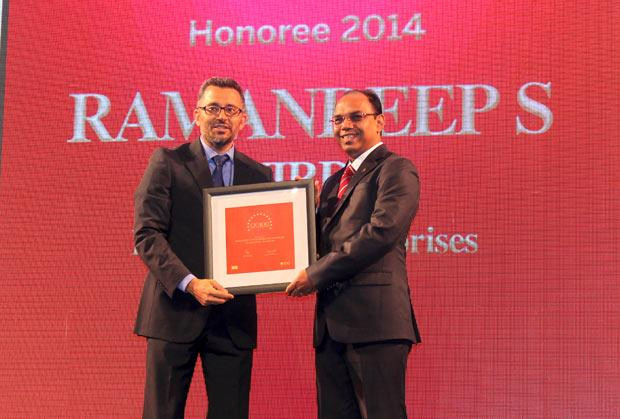 The Dynamic 100: Ramandeep Singh Virdi, VP IT, Interglobe Enterprises receives the CIO100 Award for 2014