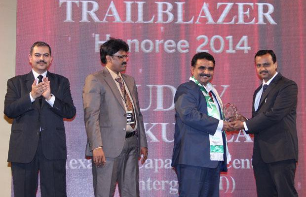 Dynamic Infrastructure Trailblazer: Uday Sakunla, Head IT of Hexagon Capability Center India receives the CIO100 Special Award for 2014 , constituted in association with Schneider Electric