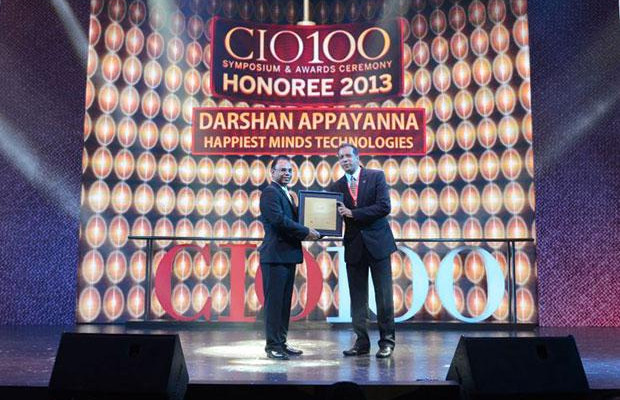 The Astute 100: Darshan Appayanna, CIO at Happiest Minds Technologies receives the CIO100 Award for 2013