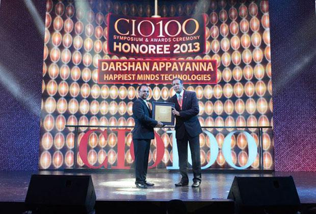 The Astute 100: Darshan Appayanna, CIO at Happiest Minds Technologies receives the CIO100 Award for 2013