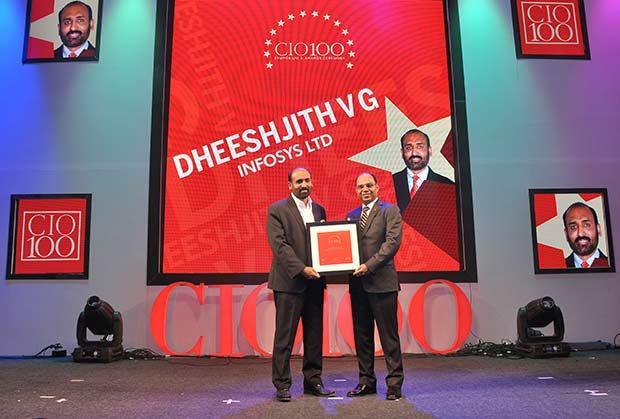 The Transformative 100: Dheeshjith V G, CIO-Internal Infrastructure of Infosys receives the CIO100 Award for 2016