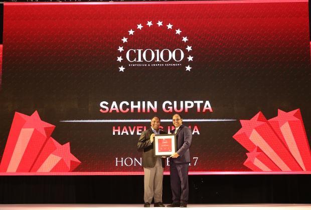 The Digital Innovators: Sachin Gupta, Senior VP and CIO of Havells India receives the CIO100 Award for 2017