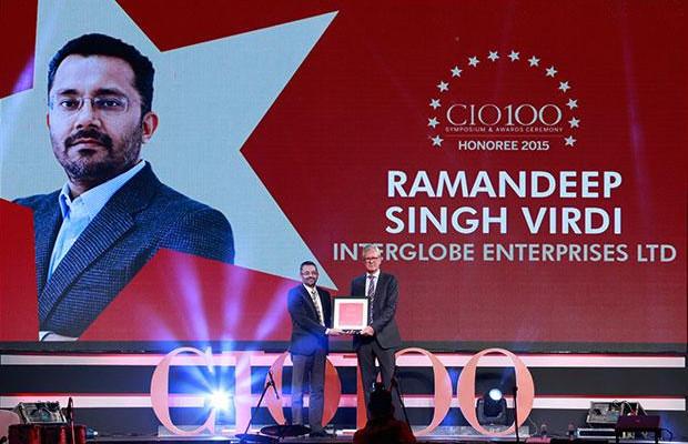 The Versatile 100: Ramandeep Singh Virdi, VP IT, Interglobe Enterprises receives the CIO100 Award for 2015