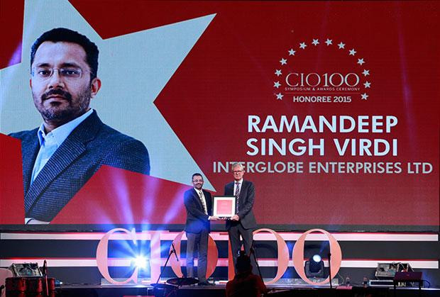 The Versatile 100: Ramandeep Singh Virdi, VP IT, Interglobe Enterprises receives the CIO100 Award for 2015