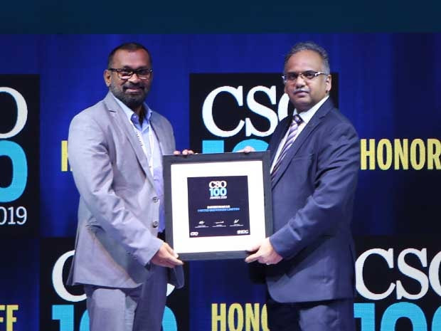 Ravikumar LR, Sr. Manager Policy & Governance of United Breweries, receives the CSO100 Award for 2019