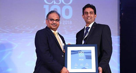 Anil Nair, Sr. Manager IS at SHV Energy receives the CSO100 Award for 2018